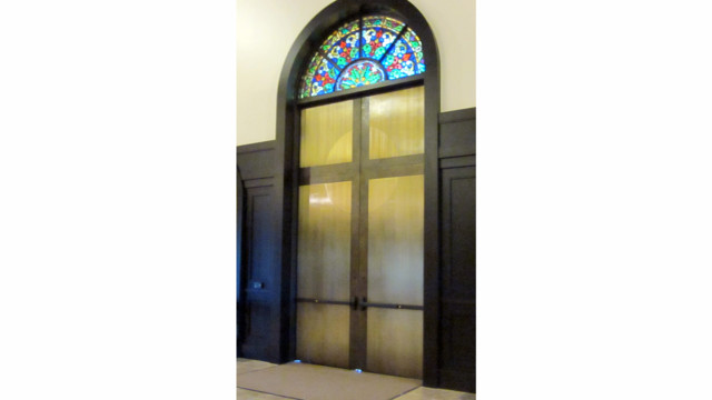 Von Duprin Concealed Vertical Cable Exit Devices Fill Church's Tall Order