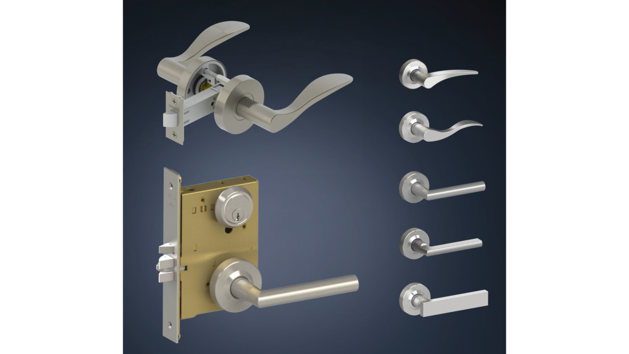 Decorative Levers Locksmith Ledger