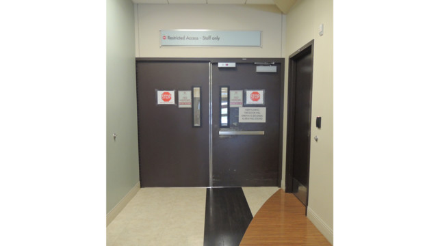 DEC 03 Emergency Waiting Room Pair of Cross Corridor Double Egress Doors from Waiting Room 54f9c8ad786bc  sc 1 st  Locksmith Ledger & Delayed Egress | Locksmith Ledger