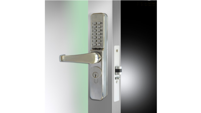 Narrow Stile Aluminum Glass Door Lock Hardware Choices