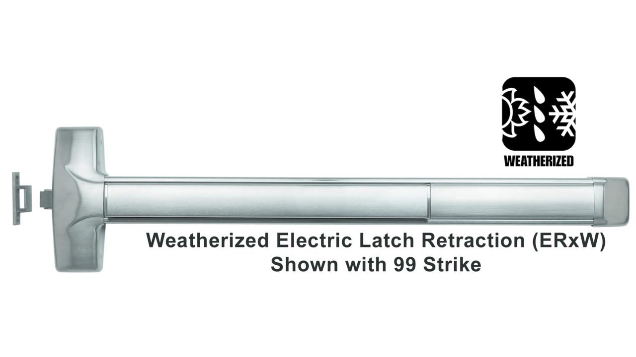 Weatherized Advantex Latch Retraction Exit Device