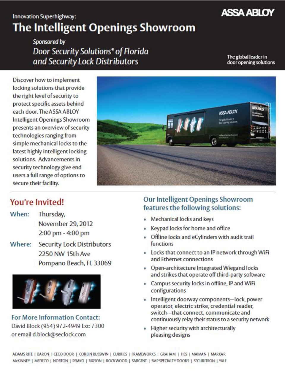 Tour the ASSA ABLOY Intelligent Openings Showroom for an
