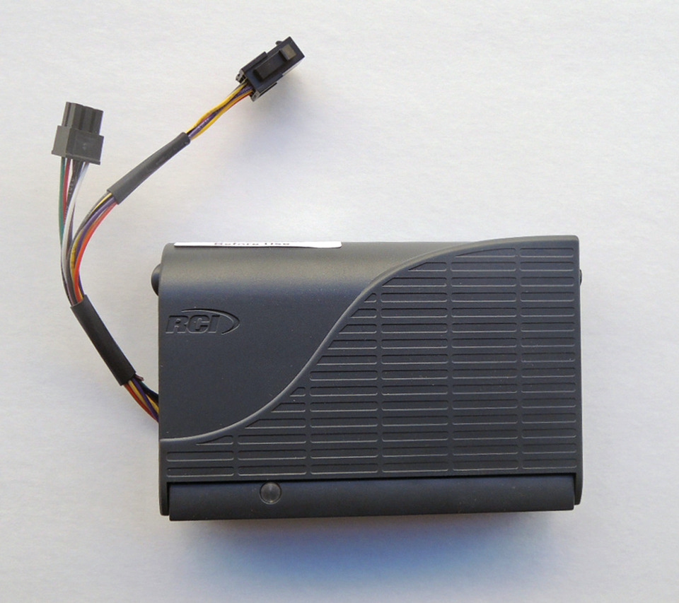 two 6-wire connectors plug into wiring harness  batteries are contained  within power controller