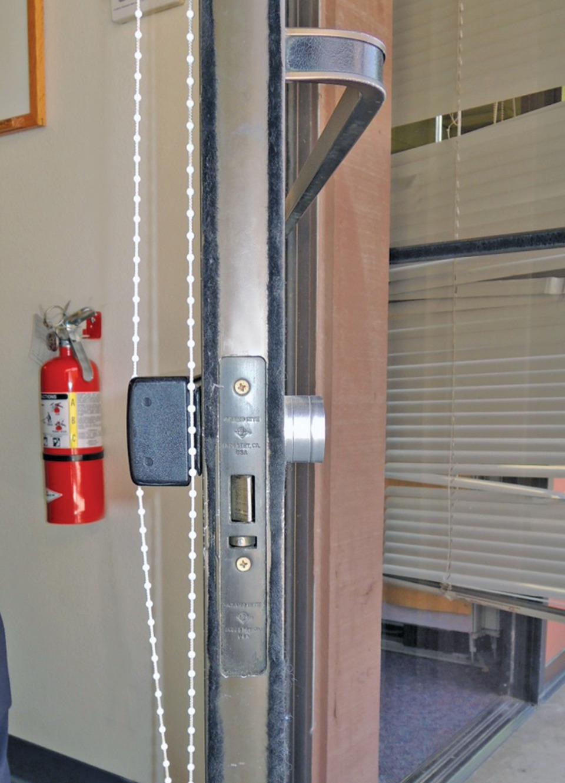 Replacing An Narrow Stile Aluminum Door Lock With An Exit