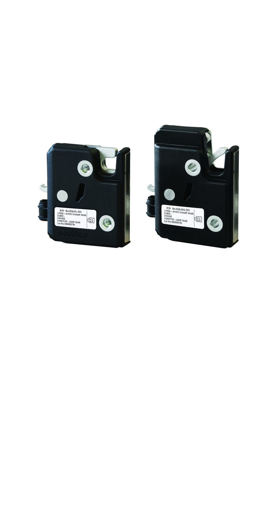 Southco Inc  R4-EM 8 Series Electronic Rotary Latch in Locks