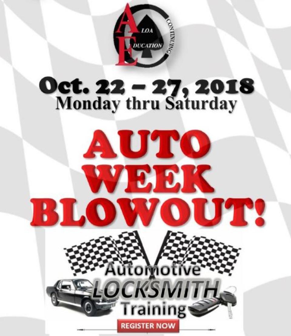 ALOA Automotive Locksmith Training Week