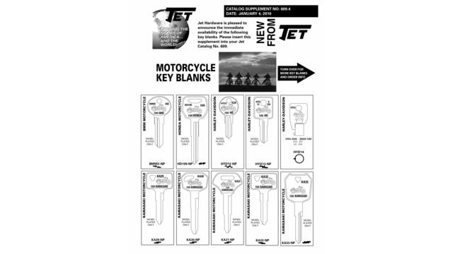 motorcycle key assortment locksmith ledger rh locksmithledger com ESP Key Blank Cross Reference Decorative Key Blanks