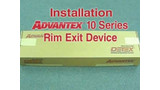 Advantex 10 Series Rim Device Install