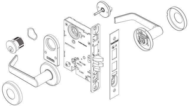 indicator mortise lock series