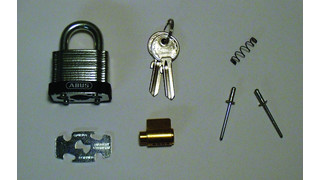 Installing the Abus Rekeyable 41UK Series Laminated Padlock