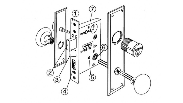 Antique Mortise Lock Parts Diagram
