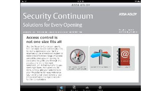 ASSA ABLOY iPad App Simplifies Access Control Product Selection