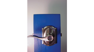 New Schlage Lever Lock with Built-in Alarm