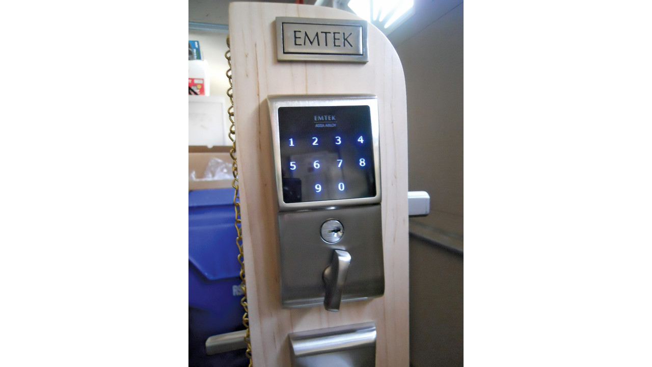 Emtek Provides Stylish Touchscreen Lock For Residential Doors
