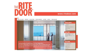 New Website, New Look, New Silent Electrification Option… The RITE Door®