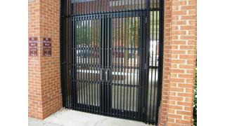 Electric Latch Retraction Secures Pair of Doors