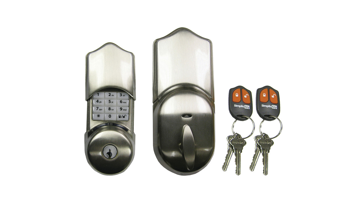 This Electronic Keypad Deadbolt Residential Door Lock Can
