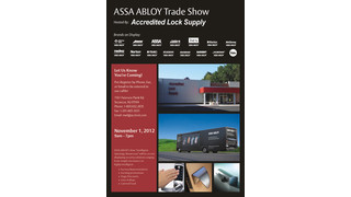 Accredited Lock Supply Hosts ASSA ABLOY Tradeshow Nov. 1