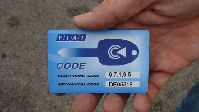 autoradio bloccata e problema con la scheda code card