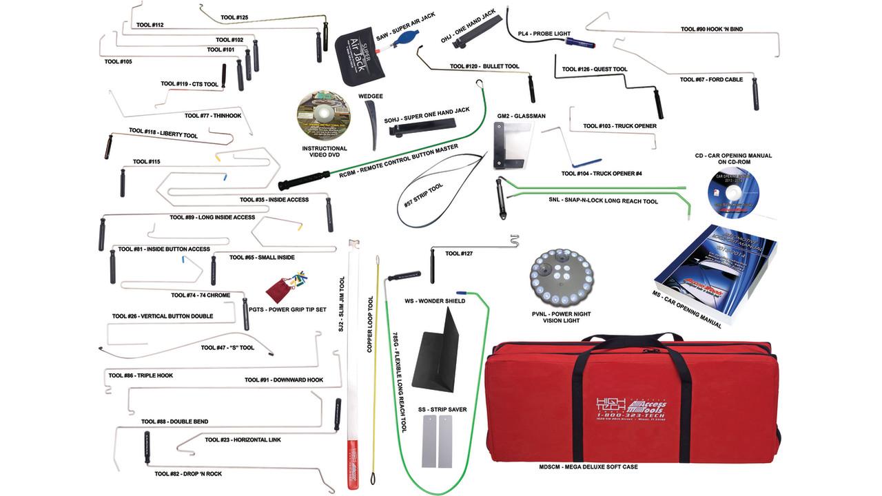 Super Pro Complete Car Opening Set Locksmith Ledger