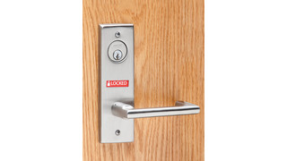 "Schlage ""Locked/Unlocked"" Visual Status Indicator"