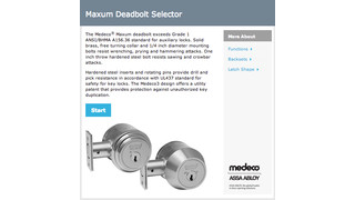 Medeco's Online Deadbolt Selector Now Available