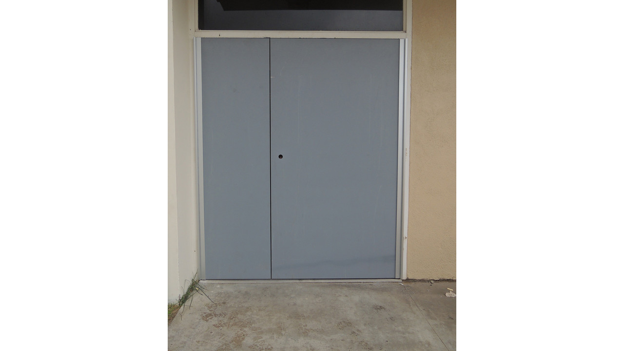 Replacement double doors secure office building locksmith ledger