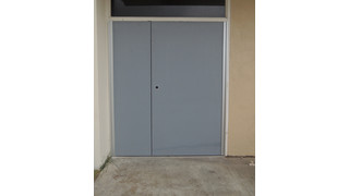 Replacement Double Doors Secure Office Building